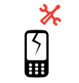Phone service icon vector image