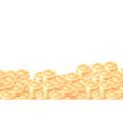 piles gold coins cartoon frame or border vector image vector image