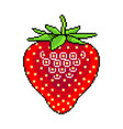 pixel fresh strawberry fruit detailed isolated vector image vector image