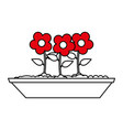 potted flowers icon image vector image vector image