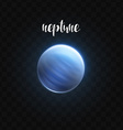 realistic glowing neptune planet isolated glow vector image vector image