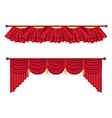 Red curtains set luxury silk curtain