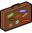 Retro suitcase vector image vector image