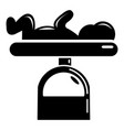 scale baby icon simple black style vector image vector image