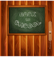 school board on a wooden background vector image vector image