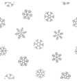 Seamless pattern of falling silver snowflakes vector image vector image