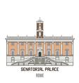Senatorial Palace vector image