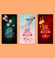 set banner happy chinese new year 2019 year of vector image vector image