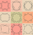 set of monograms Elegant Outline borders and vector image