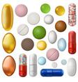 set pills vector image