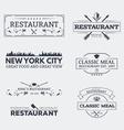 Seven restaurant emblems vector image vector image