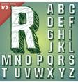Sketch hand drawing alphabet vector image