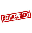 square grunge red natural meat stamp vector image