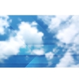 Tech cloudscape collage Gradient mesh vector image vector image
