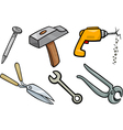 tools objects cartoon set vector image vector image