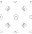 trip backpack pattern seamless vector image vector image