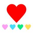 valentine heart symbols vector image vector image