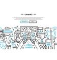 Video Gaming - line design website banner vector image vector image
