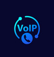 voip call icon for web vector image