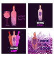 wine tasting card set vector image vector image