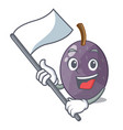 with flag velvet tamarind fruit isolated on mascot vector image
