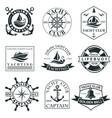 yacht club label set vector image