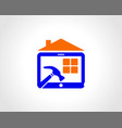 building construction maintenance logo vector image