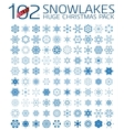 102 abstract Christmas snowflakes vector image