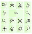 14 zoom icons vector image vector image
