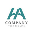abstract ha logo with color gradation vector image