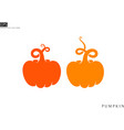 abstract pumpkins silhouette vector image