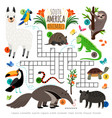 american animals crossword vector image vector image