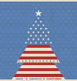 American christmas tree poster background vector image
