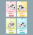 Animal banner with Cows for web design 2 vector image vector image
