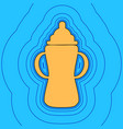 baby bottle sign sand color icon with vector image vector image