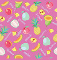 background of fruits peach guava melon vector image vector image