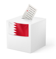 Ballot box with voting paper Bahrain vector image vector image