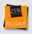 big sale banner template design orange square vector image