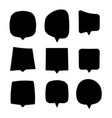 black speech bubbles set isolated dialog or chat vector image