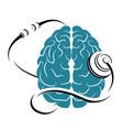 brain and tonometer vector image
