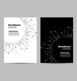 brochure template layout design abstract vector image vector image