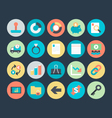 Business Colored Icons 7 vector image