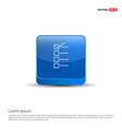 check list ok icon - 3d blue button vector image vector image