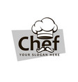 chef hat and mustache vector image vector image