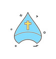 christian cap cross icon design vector image