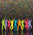 colourful party people background 0709 vector image vector image