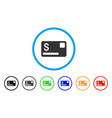 credit card rounded icon vector image vector image