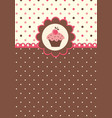 cute background with cupcake vector image