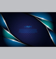 dark blue metallic textured background vector image