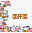 delicious coffee plastic cup and milk background vector image vector image